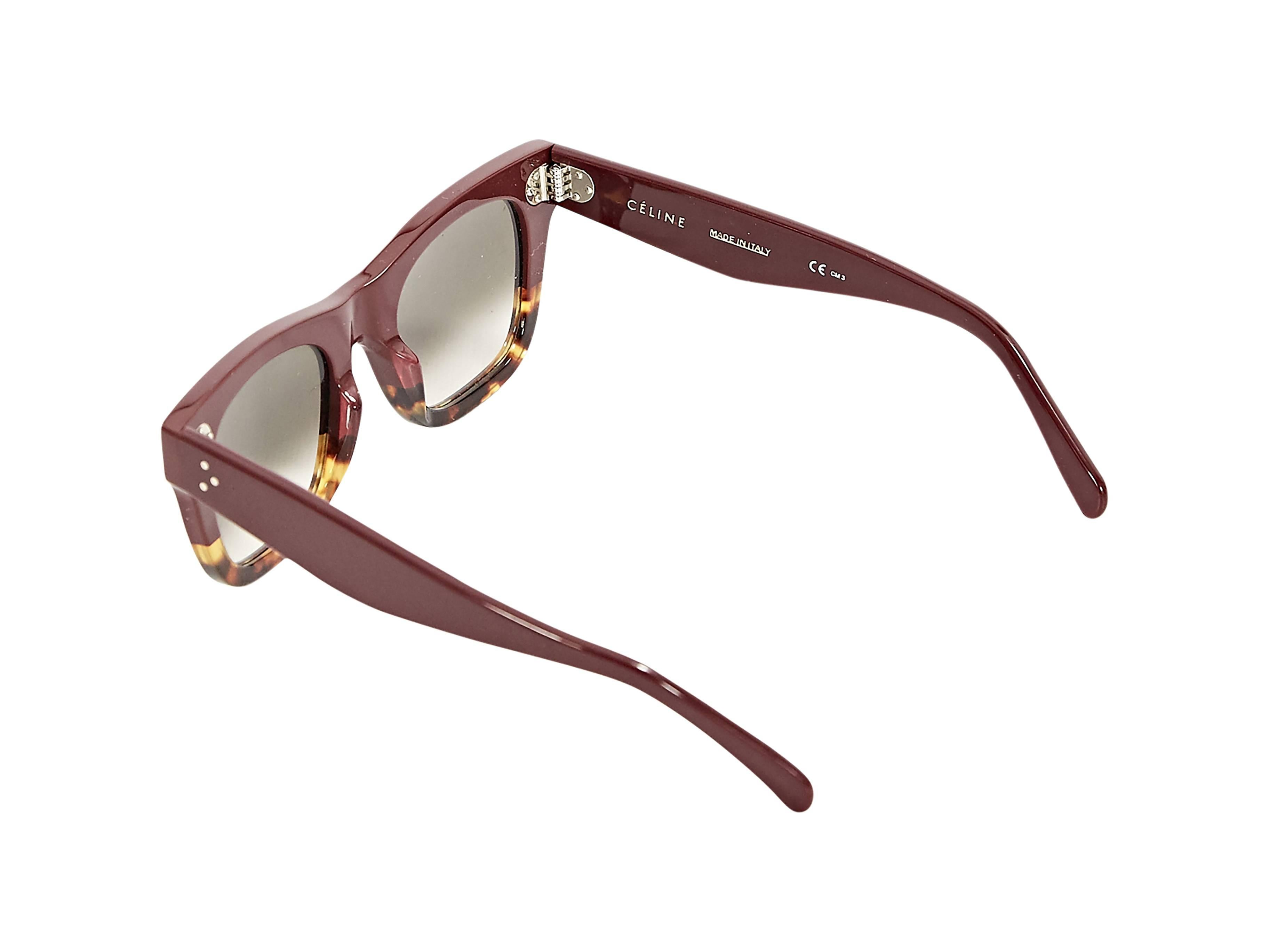 13caed3d0a5 Burgundy and Tortoise Celine Catherine Sunglasses at 1stdibs