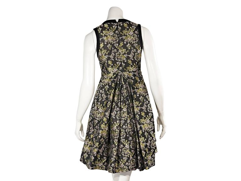 Vera Wang Embellished Floral Dress 3