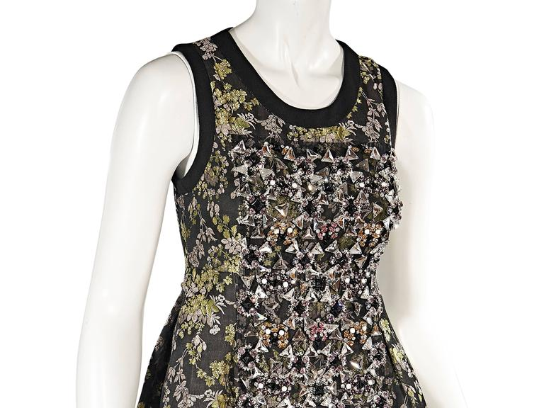Vera Wang Embellished Floral Dress 4