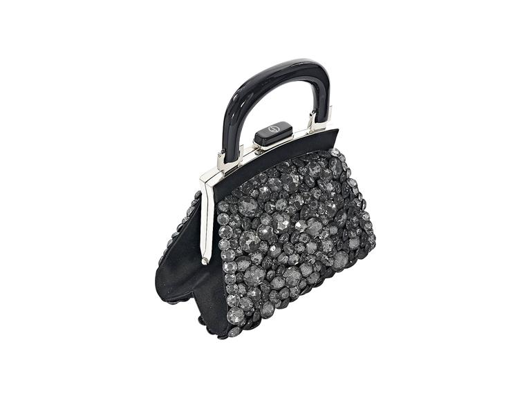 ec48542cd8c Black Giorgio Armani Embellished Evening Bag In Excellent Condition For  Sale In New York, NY