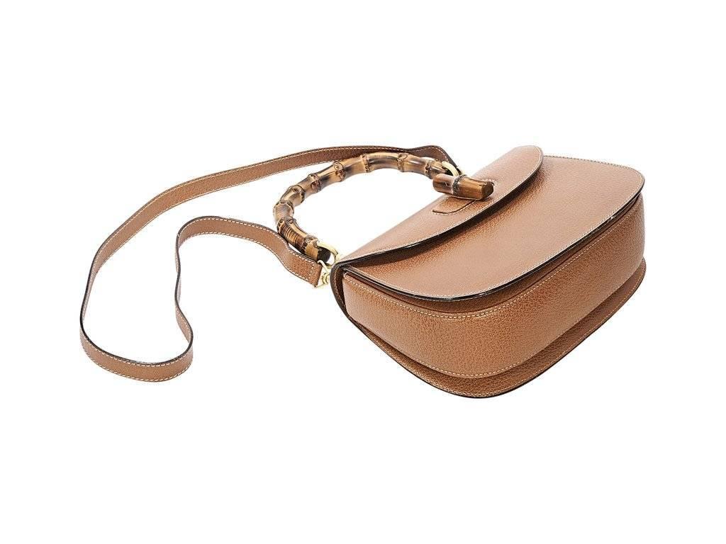 10c3ce4ce3ce Tan Gucci Vintage Leather Satchel at 1stdibs
