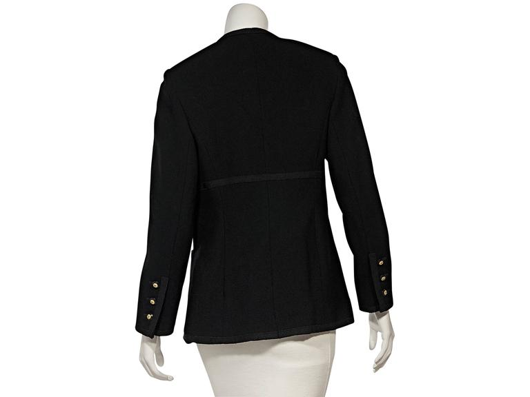 Black Vintage Chanel Double-Breasted Jacket In Good Condition For Sale In New York, NY