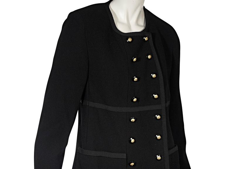 Women's Black Vintage Chanel Double-Breasted Jacket For Sale