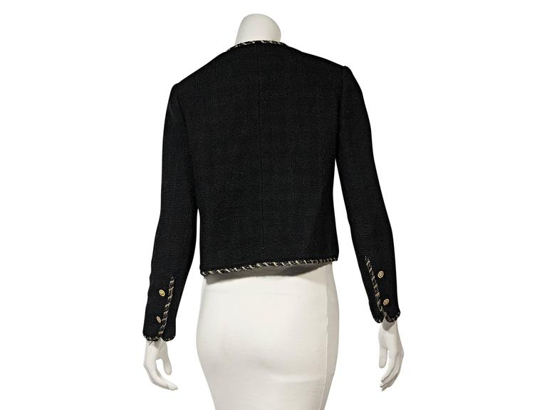 Black Vintage Chanel Wool Coat In Excellent Condition For Sale In New York, NY