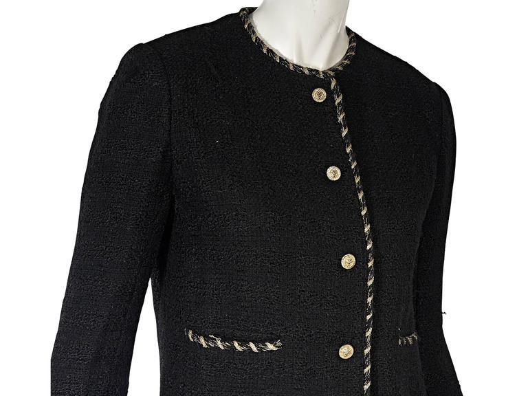 Women's Black Vintage Chanel Wool Coat For Sale