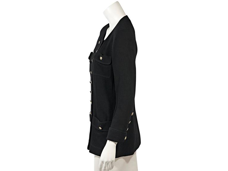 Black Vintage Chanel Corduroy Jacket In Good Condition For Sale In New York, NY