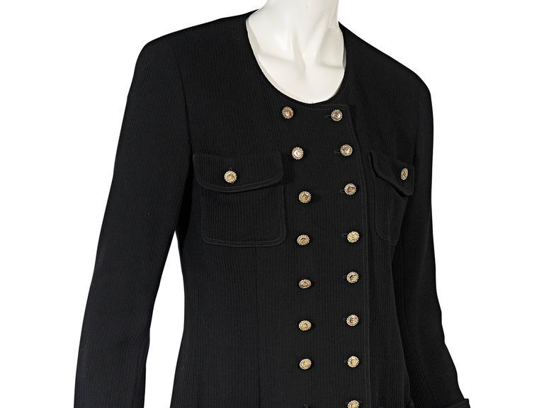 Women's Black Vintage Chanel Corduroy Jacket For Sale