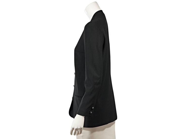Black Vintage Chanel Button-Front Jacket In Good Condition For Sale In New York, NY