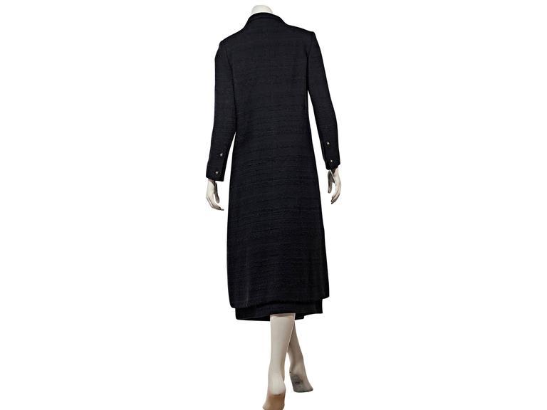 Navy Vintage Chanel 2-Piece Skirt Set 2