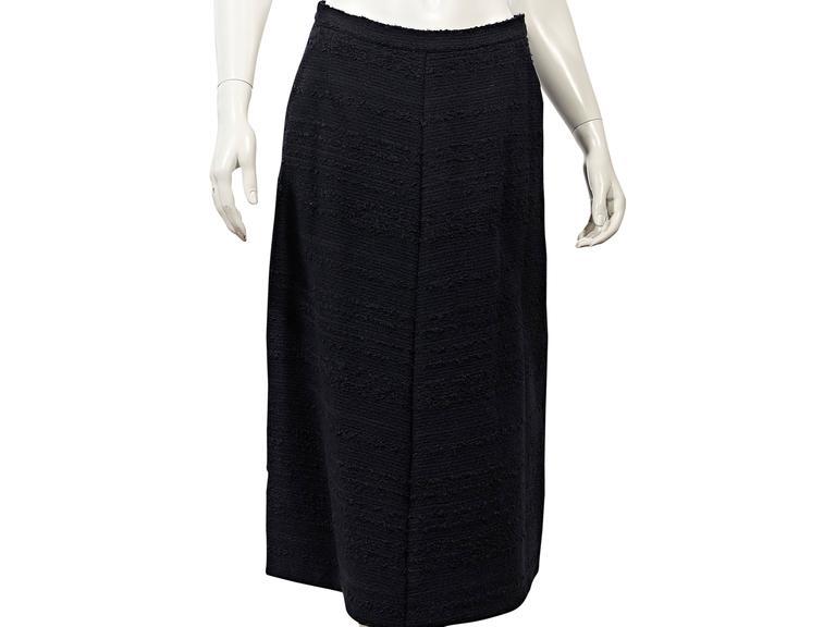 Navy Vintage Chanel 2-Piece Skirt Set 5