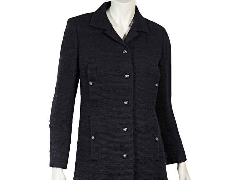 Navy Vintage Chanel 2-Piece Skirt Set 4