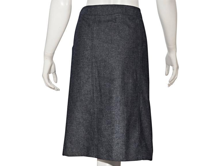 Blue Vintage Chanel Denim Skirt 2