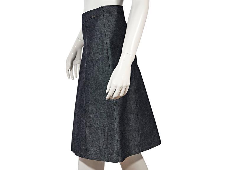 Blue Vintage Chanel Denim Skirt 3