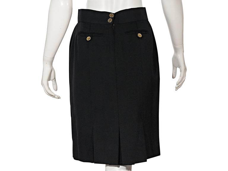 Black Vintage Chanel Skirt In Good Condition For Sale In New York, NY