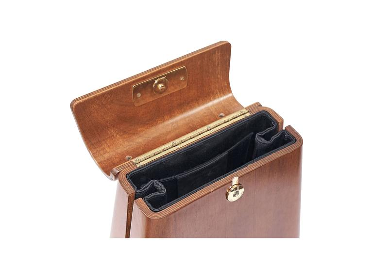 Limited Edition Salvatore Ferragamo Wood Bag  In Good Condition In New York, NY