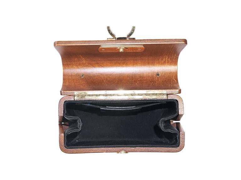 Women's or Men's Limited Edition Salvatore Ferragamo Wood Bag
