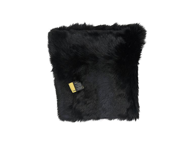 Black Fendi Zucca Infinity Fur Scarf In Excellent Condition For Sale In New York, NY