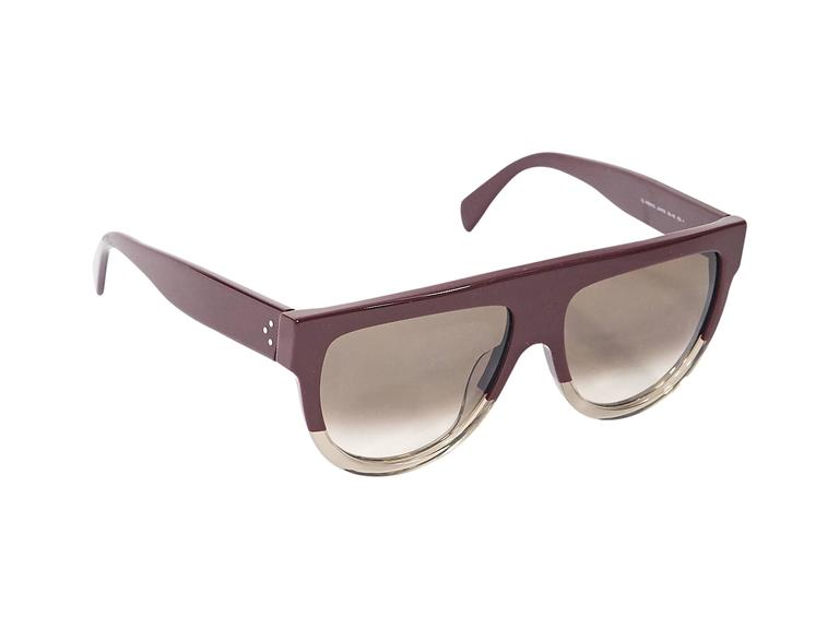 8edbc20c4b8 Product details  Red and clear aviator sunglasses by Celine. Two-tone  design