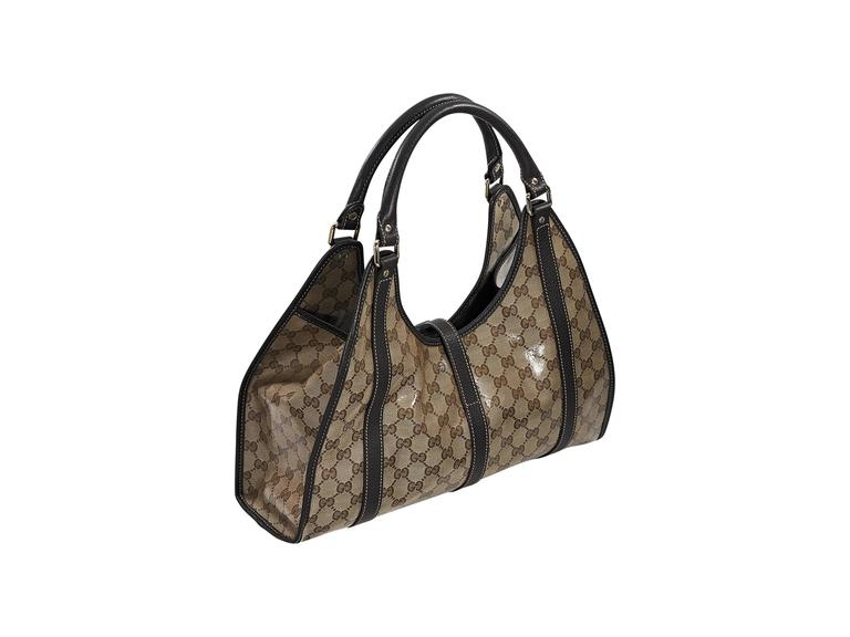 Tan Gucci GG Crystal Hobo Bag at 1stdibs