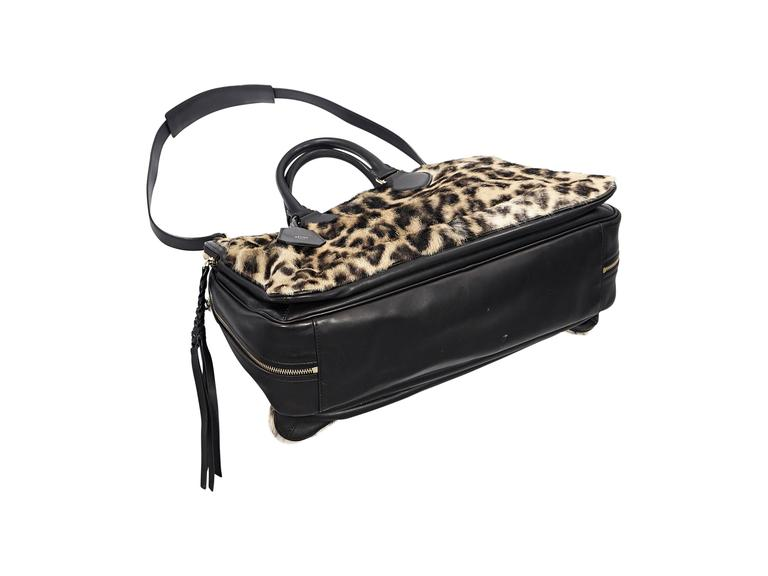 Celine Leopard-Print Fur & Leather Satchel 4