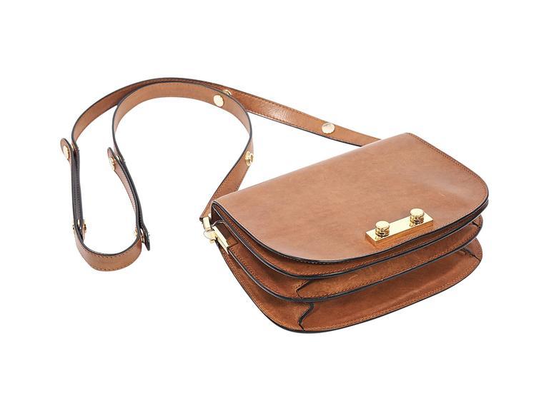 street price customers first later Tan Marni Leather Crossbody Bag