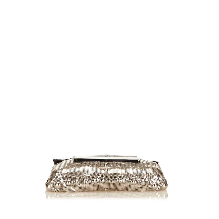 Jimmy Choo Metallic Shoulder Bag In Excellent Condition For Sale In New York, NY