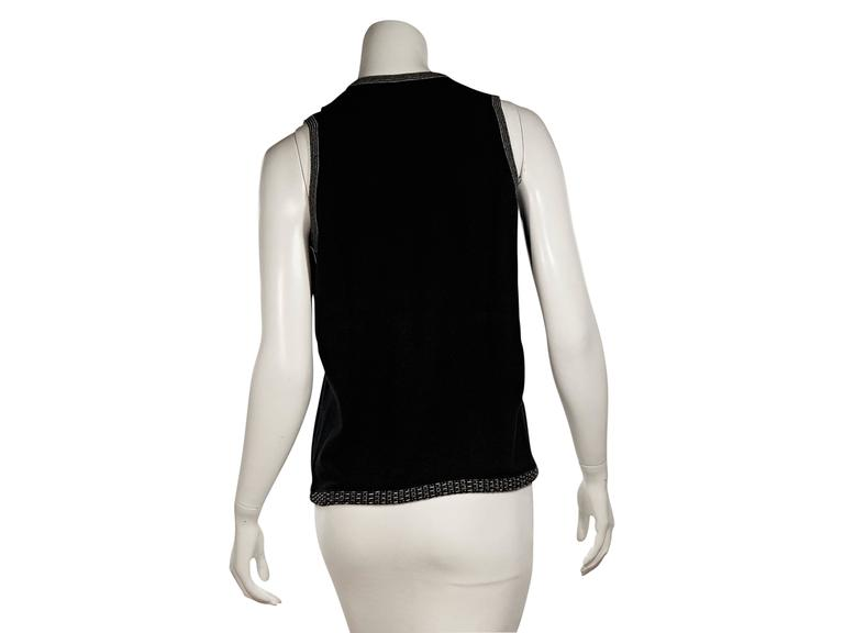 Black Chanel Knit Shell In Excellent Condition For Sale In New York, NY
