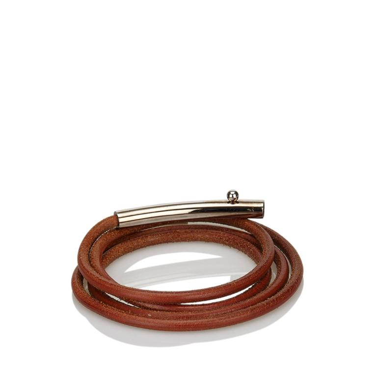 Brown Hermès Leather Belt In Good Condition For Sale In New York, NY