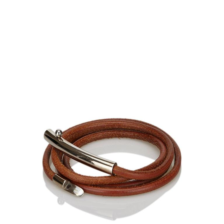 Women's Brown Hermès Leather Belt For Sale