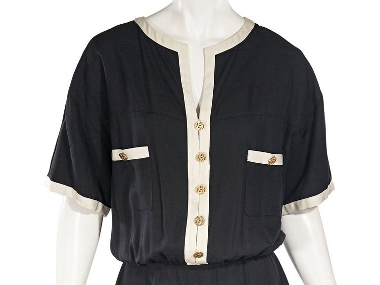 Black & White Vintage Chanel Dress 4