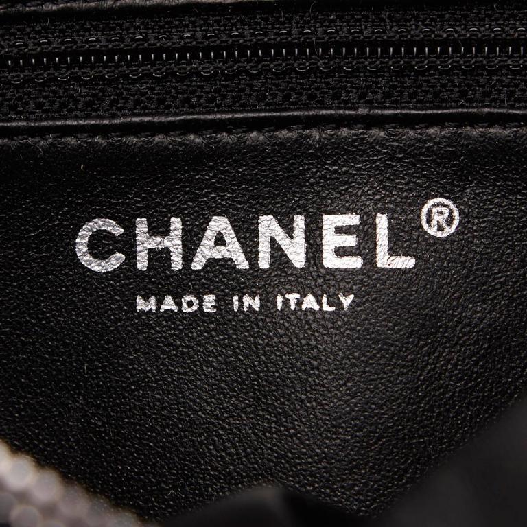 Black Chanel Quilted Leather Shoulder Bag 8