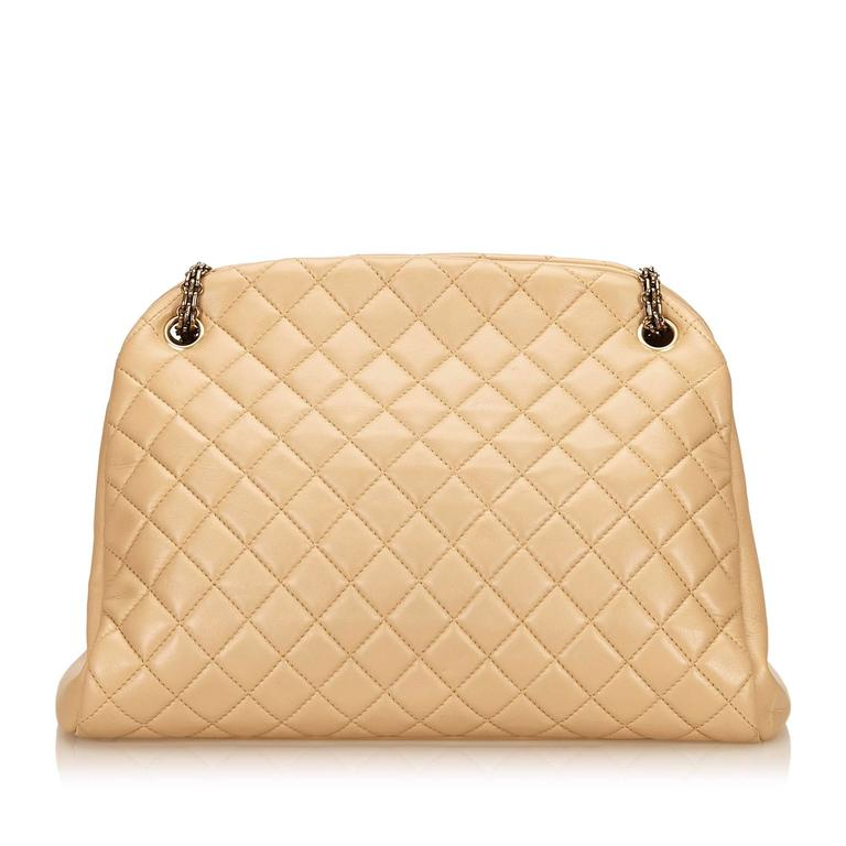 Beige Chanel Mademoiselle Bowling Bag In Good Condition For Sale In New York, NY