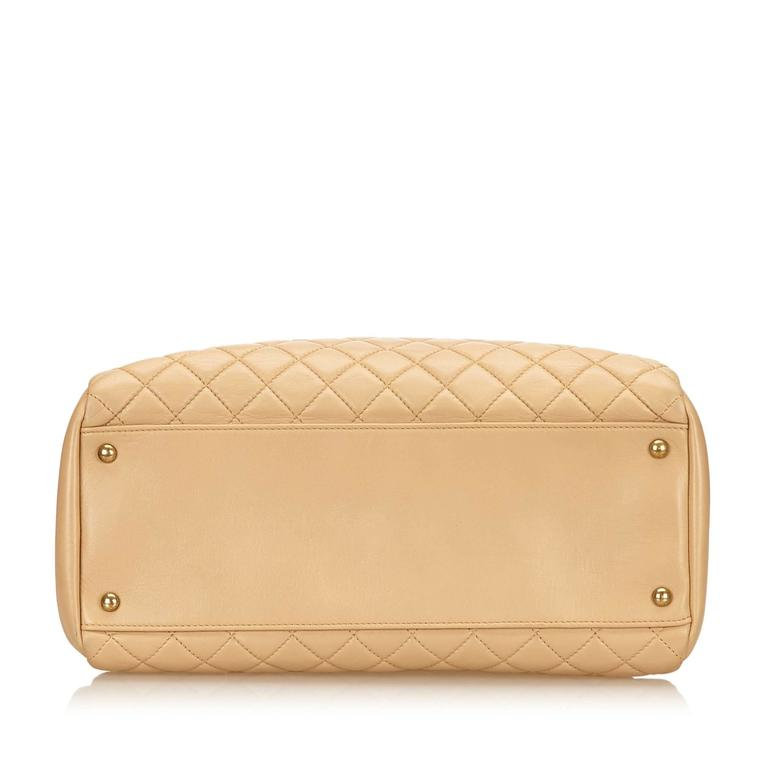 Women's Beige Chanel Mademoiselle Bowling Bag For Sale