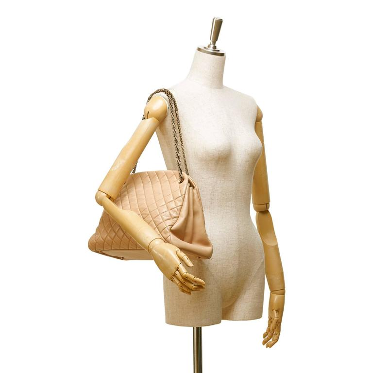 Beige Chanel Mademoiselle Bowling Bag For Sale 1