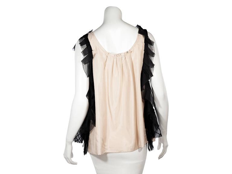 Pink & Black Vera Wang Silk Top 3