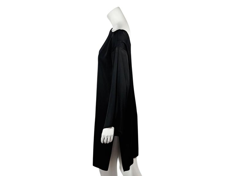 Black Ann Demeulemeester Long-Sleeve Dress 2