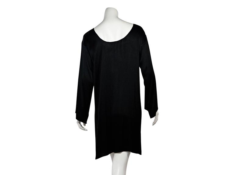 Black Ann Demeulemeester Long-Sleeve Dress In Good Condition For Sale In New York, NY