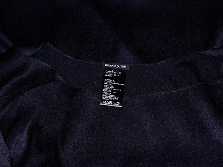 Women's Black Ann Demeulemeester Long-Sleeve Dress For Sale