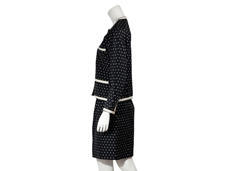Navy & White Vintage Chanel Skirt Suit 2