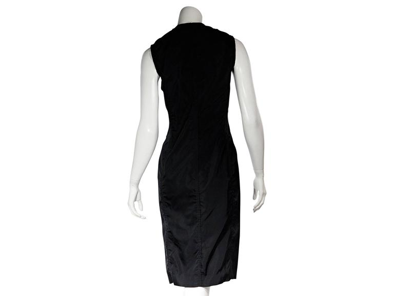 Black Yves Saint Laurent Silk Sheath Dress In Good Condition For Sale In New York, NY