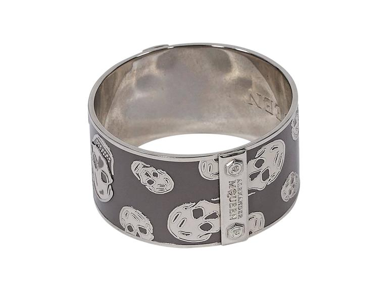 Grey & Silver Alexander McQueen Skull Bangle 3