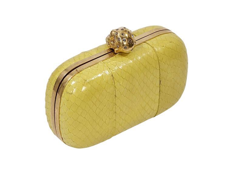 Yellow Alexander McQueen Box Clutch 2
