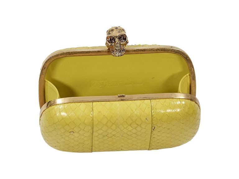 Yellow Alexander McQueen Box Clutch 4