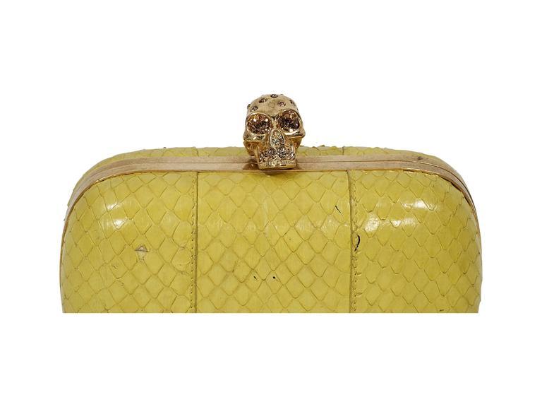 Yellow Alexander McQueen Box Clutch 5