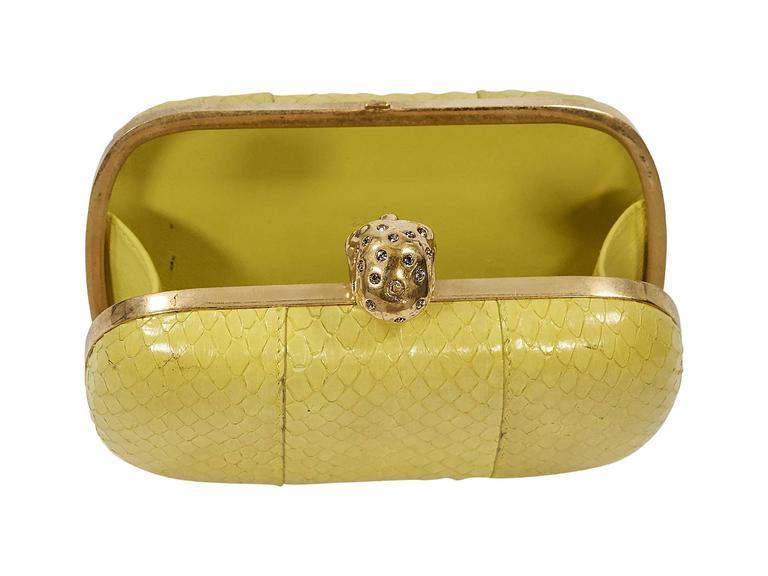 Yellow Alexander McQueen Box Clutch 6