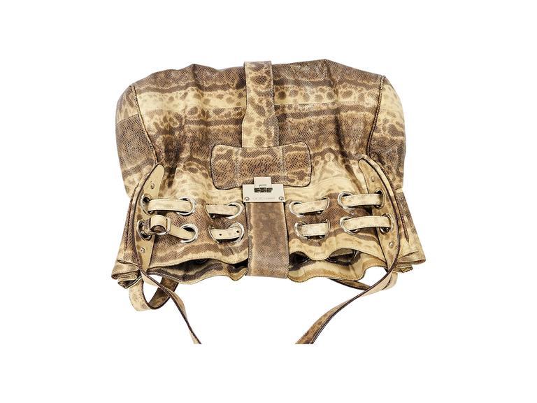 Beige Jimmy Choo Snakeskin Ramona Bag 4