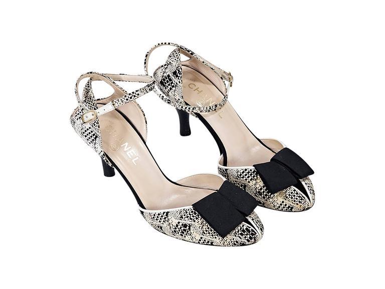 Tan & Black Chanel Boucle Kitten Heel 2