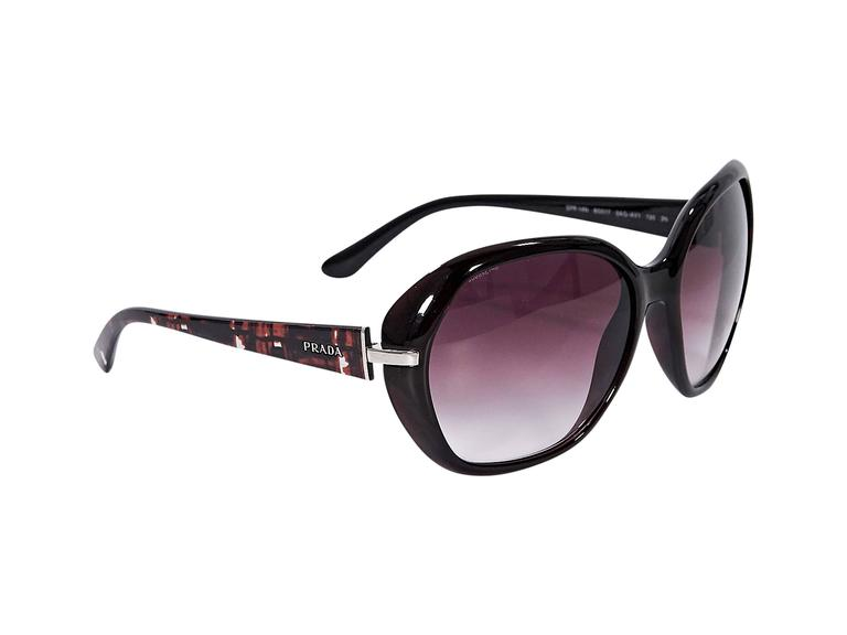 f6fbf3e7316d7 where can i buy product details burgundy sunglasses by prada. gradient  lenses. tapered stems