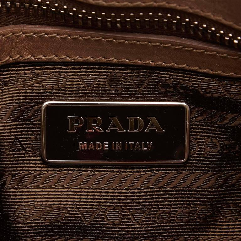 Bronze Prada Nappa Gaufre Shoulder Bag For Sale 1