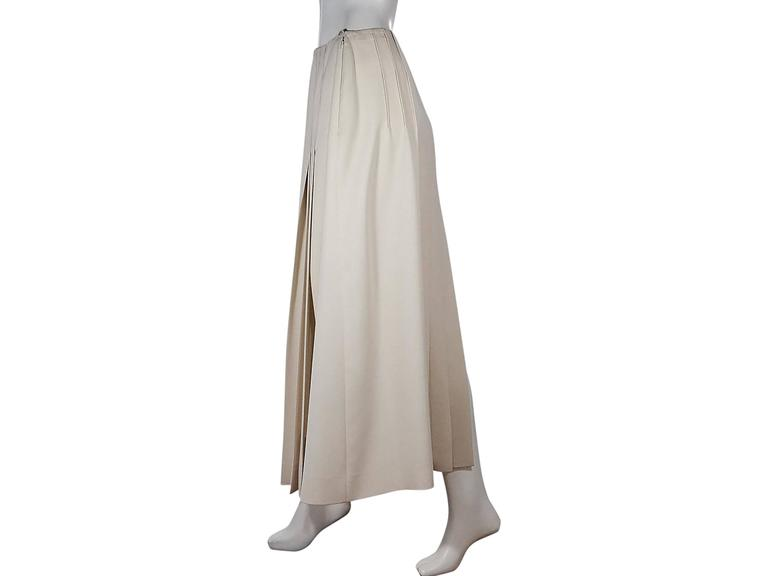 Ivory Chanel Pleated Long Skirt 2